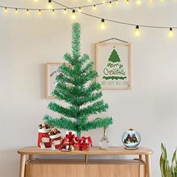 HENGMEI PVC Weihnachtsbaum Tannenbaum Christbaum Grün künstlicher mit ständer ca. 80 Spitzen Lena Weihnachtsdeko (Grün PVC, 90cm) - 7