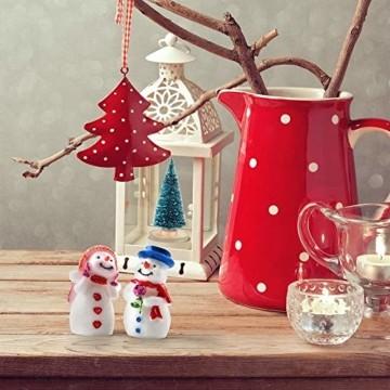 HIQE-FL Miniatur Tannenbaum,Naturgetreuer Weihnachtsbaum,Mini Weihnachtsbaum Plastik,Weihnachtsbaum Klein Geschmückt,Mini Christbaum,Künstlicher Weihnachtsbaum(Blau) - 4