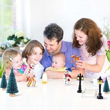 HIQE-FL Miniatur Tannenbaum,Naturgetreuer Weihnachtsbaum,Mini Weihnachtsbaum Plastik,Weihnachtsbaum Klein Geschmückt,Mini Christbaum,Künstlicher Weihnachtsbaum(Blau) - 6