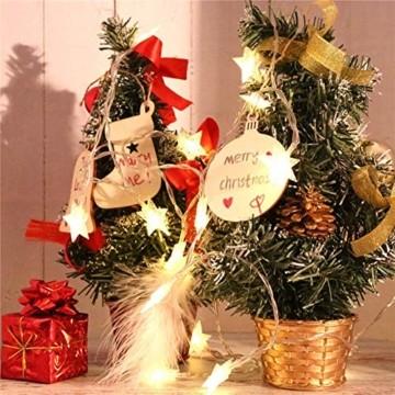 Holz Weihnachtsdeko Anhänger 60tlg schneeflocke Holzanhänger Weihnachten Holzverzierung mit 60 mt schnur seil,Christbaumschmuck Anhänger für urlaub party wohnkultur hochzeit diy handwerk Deer - 4