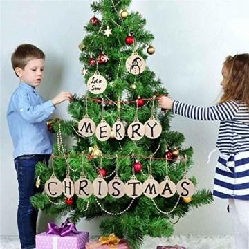 Holz Weihnachtsdeko Anhänger 60tlg schneeflocke Holzanhänger Weihnachten Holzverzierung mit 60 mt schnur seil,Christbaumschmuck Anhänger für urlaub party wohnkultur hochzeit diy handwerk Deer - 8