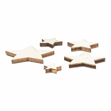 Holzsterne zum Basteln und Dekorieren | 5 verschiedene Größen | Sterne aus Holz | 1 cm bis 3 cm | naturfarben | 250 Stück | Ideal als Weihnachts-Deko, Tischdeko, Streudeko - 5