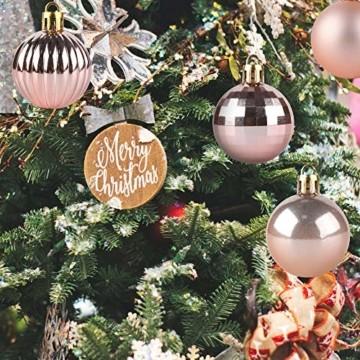 Homewit 36-teilig Ø4 cm Weihnachtsbaumkugeln Set weihnachtlicher baumschmuck weihnachtsbaumanhänger weihnachtsdekoration Weihnachtsdeko Set, Kunststoff Weihnachtskugeln Christbaumkugeln, Mehrweg - 2