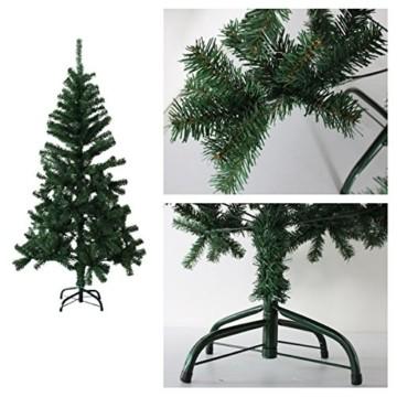 huigou HG® 220cm Grün Künstlicher Weihnachtsbaum künstliche Weihnachtsbäume Metallständer Kunststoff Nadeln PVC Hart und Weichnadel Premium Spritzguss Qualität für Outdoor Innen - 2