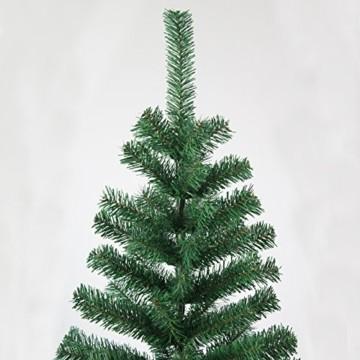 huigou HG® 220cm Grün Künstlicher Weihnachtsbaum künstliche Weihnachtsbäume Metallständer Kunststoff Nadeln PVC Hart und Weichnadel Premium Spritzguss Qualität für Outdoor Innen - 3