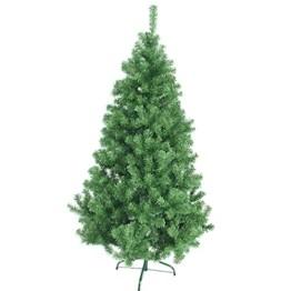 huigou HG® 220cm Grün Künstlicher Weihnachtsbaum künstliche Weihnachtsbäume Metallständer Kunststoff Nadeln PVC Hart und Weichnadel Premium Spritzguss Qualität für Outdoor Innen - 1