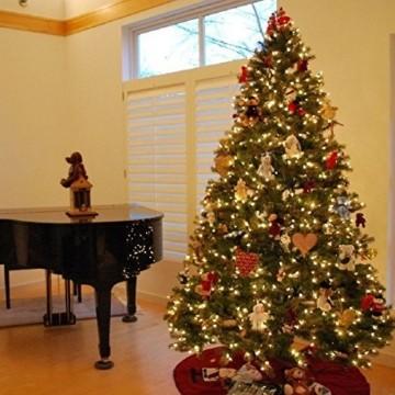 huigou HG® 220cm Grün Künstlicher Weihnachtsbaum künstliche Weihnachtsbäume Metallständer Kunststoff Nadeln PVC Hart und Weichnadel Premium Spritzguss Qualität für Outdoor Innen - 5