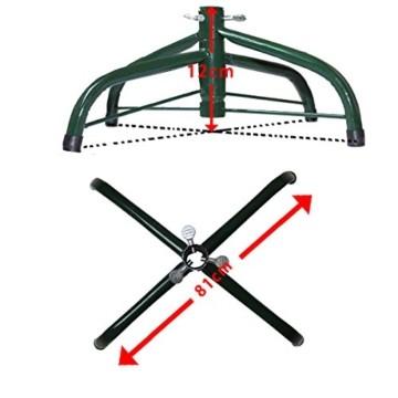 huigou HG® 220cm Grün Künstlicher Weihnachtsbaum künstliche Weihnachtsbäume Metallständer Kunststoff Nadeln PVC Hart und Weichnadel Premium Spritzguss Qualität für Outdoor Innen - 6
