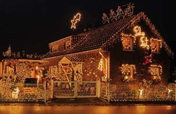 Idena 31090 - LED Lichterkette mit 600 LED in warm weiß, mit 8 Stunden Timer Funktion, Innen und Außenbereich, für Partys, Weihnachten, Deko, Hochzeit, als Stimmungslicht, ca. 50 m - 4
