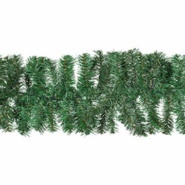 Idena 31854 LED Tannengirlande mit 160 LED warm weiß, mit 8 Stunden Timer Funktion, für Advent, Weihnachten, Deko, als Stimmungslicht, ca. 25 cm x 10 m - 5