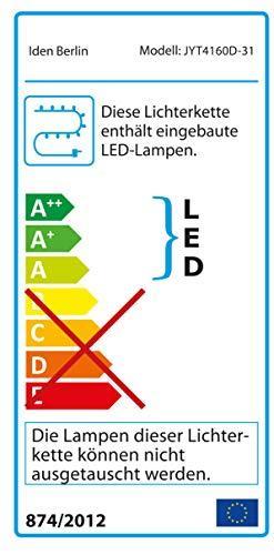 Idena 31854 LED Tannengirlande mit 160 LED warm weiß, mit 8 Stunden Timer Funktion, für Advent, Weihnachten, Deko, als Stimmungslicht, ca. 25 cm x 10 m - 7