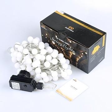 infinitoo LED Globe Lichterkette, 10M 100 LEDS Glühbirne Lichterkette Wasserdicht mit 8 Modi, Innen- Außen Beleuchtung für Weihnachten, Party, Garten, Balkon, Zimmer Deko [Energieklasse A++] - 2