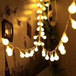 infinitoo LED Globe Lichterkette, 10M 100 LEDS Glühbirne Lichterkette Wasserdicht mit 8 Modi, Innen- Außen Beleuchtung für Weihnachten, Party, Garten, Balkon, Zimmer Deko [Energieklasse A++] - 1
