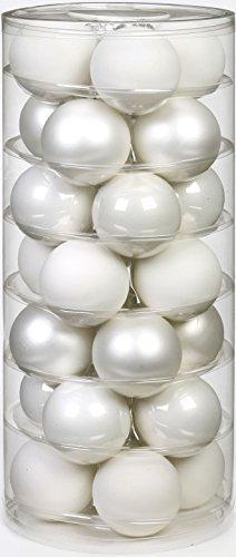 Inge Glas 15112D003 Kugel 60 mm, 28-Stück/Dose, Just white Mix(weiss,porzellanweiss) - 1