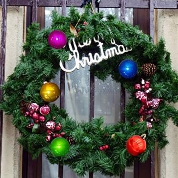 Jinlaili 24PCS Christbaumkugeln, 6CM Weihnachtskugeln Ornamente, Weihnachtsdeko, Christbaumkugel, Weihnachtskugel Kugel, Baumschmuck Weihnachten, Christbaumschmuck Weihnachten Dekoration (Bunt) - 2