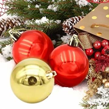 Jinlaili 24PCS Christbaumkugeln, 6CM Weihnachtskugeln Ornamente, Weihnachtsdeko, Christbaumkugel, Weihnachtskugel Kugel, Baumschmuck Weihnachten, Christbaumschmuck Weihnachten Dekoration (Bunt) - 3