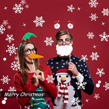 JUYOO 108 Weihnachts Schneeflocke Fenster haftet Aufkleber, Abnehmbare Statisch Weihnachten Fensterbild für Weihnachts Fenster Anzeige, Partyzubehör, Winter Dekoration (4 Blätter) - 2
