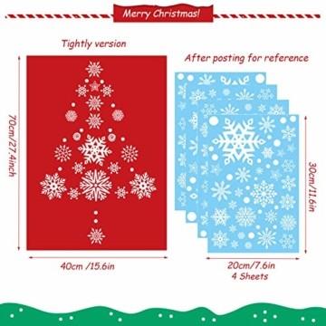JUYOO 108 Weihnachts Schneeflocke Fenster haftet Aufkleber, Abnehmbare Statisch Weihnachten Fensterbild für Weihnachts Fenster Anzeige, Partyzubehör, Winter Dekoration (4 Blätter) - 3