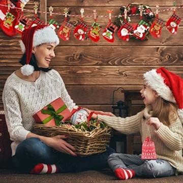 K KUMEED 48 Stück Weihnachtsdeko Holzklammern Weihnachten Klammern für Fotos, Mini Holz Handwerk Wäscheklammern Foto Papier Stift Handwerk Clip, Mini Holzklammern Weihnachten Klammern Holz Deko - 5