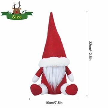 KATELUO Wichtel Figuren Weihnachten, Weihnachten Gesichtslose Puppe, Weihnachtspuppe, Ostern Weihnachten Deko Wichtel, Bart Mann Anhänger Dekoration Weihnachten Ornament Spielzeug Geschenk Prop Partei - 2