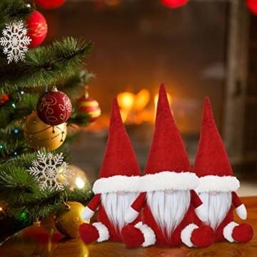 KATELUO Wichtel Figuren Weihnachten, Weihnachten Gesichtslose Puppe, Weihnachtspuppe, Ostern Weihnachten Deko Wichtel, Bart Mann Anhänger Dekoration Weihnachten Ornament Spielzeug Geschenk Prop Partei - 3