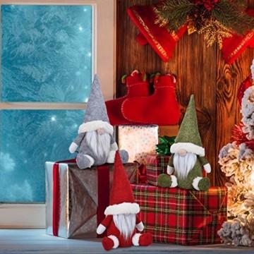 KATELUO Wichtel Figuren Weihnachten, Weihnachten Gesichtslose Puppe, Weihnachtspuppe, Ostern Weihnachten Deko Wichtel, Bart Mann Anhänger Dekoration Weihnachten Ornament Spielzeug Geschenk Prop Partei - 5