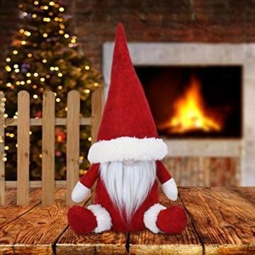 KATELUO Wichtel Figuren Weihnachten, Weihnachten Gesichtslose Puppe, Weihnachtspuppe, Ostern Weihnachten Deko Wichtel, Bart Mann Anhänger Dekoration Weihnachten Ornament Spielzeug Geschenk Prop Partei - 6