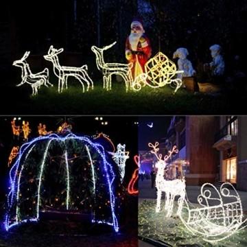 Kefflum LED Stripe,LED Streifen,Seil Licht,Weihnachtsdeko außen,Partyzelt Beleuchtung,36LEDs/M Schlauch für Innen und Außen IP65 6M Kaltweiß[Energy Class A++] - 2