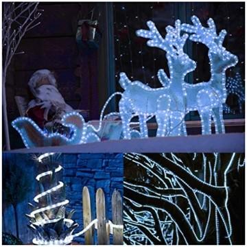 Kefflum LED Stripe,LED Streifen,Seil Licht,Weihnachtsdeko außen,Partyzelt Beleuchtung,36LEDs/M Schlauch für Innen und Außen IP65 6M Kaltweiß[Energy Class A++] - 3
