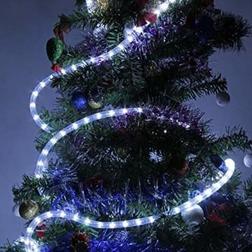 Kefflum LED Stripe,LED Streifen,Seil Licht,Weihnachtsdeko außen,Partyzelt Beleuchtung,36LEDs/M Schlauch für Innen und Außen IP65 6M Kaltweiß[Energy Class A++] - 4
