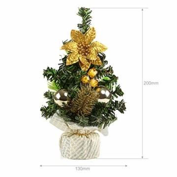 Kesote 3X Weihnachtsbaum Künstlich Klein Tannenbaum Geschmückt Christbaum Mini Weihnachtsdeko Advent Weihnachten (22 x 11 cm) - 2