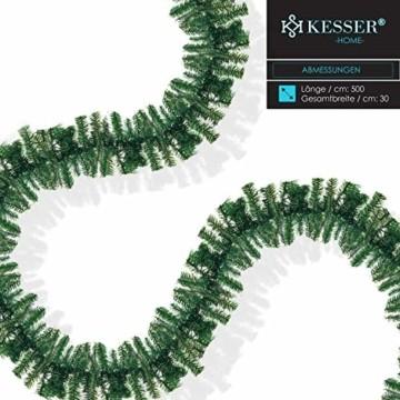 KESSER® Weihnachtsgirlande 10m mit Beleuchtung 200 LED's inkl Deko Fernbedienung - Timer - Lichterkette 7 Leuchteffekte - Weihnachtsbeleuchtung - In & Outdoor - Tannen-Girlande Weihnachtsdeko - 6