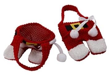 Kranich Besteckhalter Weihnachten Tischdeko Tasche 6pcs Set Kleine Weihnachtsmann Kostüm Schneemann Deko (Weihnachtsmann) - 3