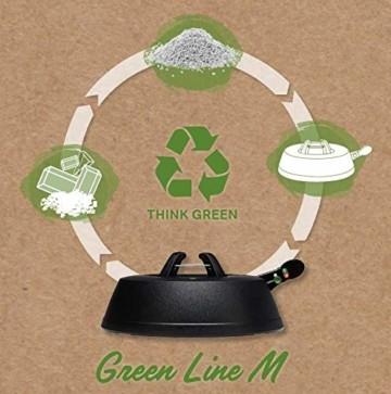 Krinner Recycling Christbaumständer Green Line M, 100% recyceltes Plastik, Schwarz, 36 cm - 2