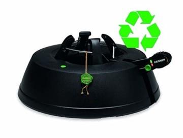 Krinner Recycling Christbaumständer Green Line M, 100% recyceltes Plastik, Schwarz, 36 cm - 1