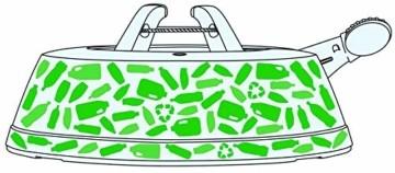 Krinner Recycling Christbaumständer Green Line M, 100% recyceltes Plastik, Schwarz, 36 cm - 5