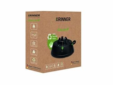 Krinner Recycling Christbaumständer Green Line M, 100% recyceltes Plastik, Schwarz, 36 cm - 6