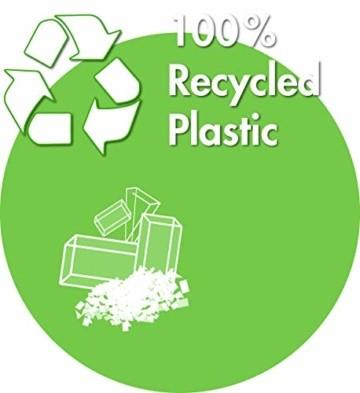 Krinner Recycling Christbaumständer Green Line M, 100% recyceltes Plastik, Schwarz, 36 cm - 7