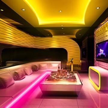 KSIPZE LED Strip 12m RGB Farbwechsel LED Lichterkette LED Band Stripes Mit 44 Tasten Fernbedienung und Netzteil LED Streifen für die Beleuchtung von Schrank,Haus Deko, Bar, Küche, Party - 4