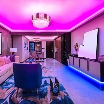 KSIPZE LED Strip 12m RGB Farbwechsel LED Lichterkette LED Band Stripes Mit 44 Tasten Fernbedienung und Netzteil LED Streifen für die Beleuchtung von Schrank,Haus Deko, Bar, Küche, Party - 7