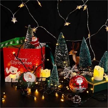 Künstlicher Weihnachtsbaum 4 Größen Künstlicher Weihnachtsbaum Miniatur Klein Tisch Christmasbaum Mini Tannenbaum Weihnachts Baum Dekoration Geschenk Tischdeko, DIY Schaufenster (Grün Weihnachtsbäume) - 6