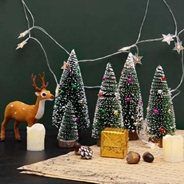 Künstlicher Weihnachtsbaum 4 Größen Künstlicher Weihnachtsbaum Miniatur Klein Tisch Christmasbaum Mini Tannenbaum Weihnachts Baum Dekoration Geschenk Tischdeko, DIY Schaufenster (Grün Weihnachtsbäume) - 7