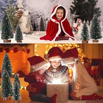 Künstlicher Weihnachtsbaum 4 Größen Künstlicher Weihnachtsbaum Miniatur Klein Tisch Christmasbaum Mini Tannenbaum Weihnachts Baum Dekoration Geschenk Tischdeko, DIY Schaufenster (Grün Weihnachtsbäume) - 8