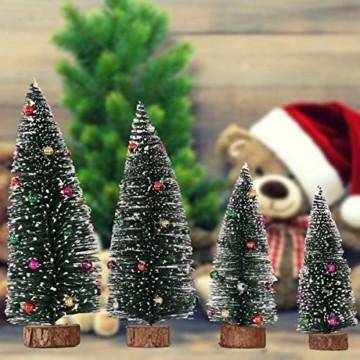 Künstlicher Weihnachtsbaum 4 Größen Künstlicher Weihnachtsbaum Miniatur Klein Tisch Christmasbaum Mini Tannenbaum Weihnachts Baum Dekoration Geschenk Tischdeko, DIY Schaufenster (Grün Weihnachtsbäume) - 9