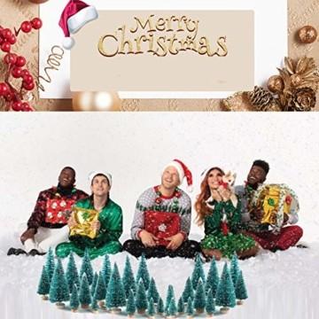 Künstlicher Weihnachtsbaum Christmas Tree Miniatur Weihnachtsdeko Klein Tisch Christmasbaum Mini Tannenbaum Weihnachts Baum Dekoration Geschenk Tischdeko, DIY Schaufenster ( Mini Weihnachtsbaum 34pcs) - 3