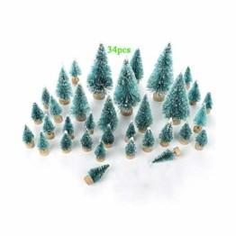 Künstlicher Weihnachtsbaum Christmas Tree Miniatur Weihnachtsdeko Klein Tisch Christmasbaum Mini Tannenbaum Weihnachts Baum Dekoration Geschenk Tischdeko, DIY Schaufenster ( Mini Weihnachtsbaum 34pcs) - 1