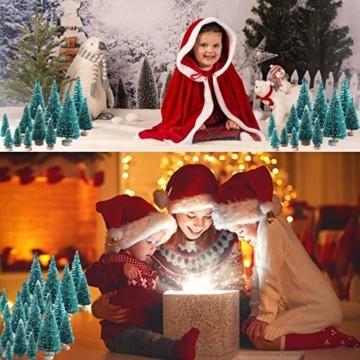 Künstlicher Weihnachtsbaum Christmas Tree Miniatur Weihnachtsdeko Klein Tisch Christmasbaum Mini Tannenbaum Weihnachts Baum Dekoration Geschenk Tischdeko, DIY Schaufenster ( Mini Weihnachtsbaum 34pcs) - 4