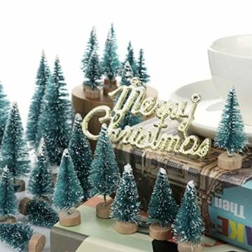Künstlicher Weihnachtsbaum Christmas Tree Miniatur Weihnachtsdeko Klein Tisch Christmasbaum Mini Tannenbaum Weihnachts Baum Dekoration Geschenk Tischdeko, DIY Schaufenster ( Mini Weihnachtsbaum 34pcs) - 5