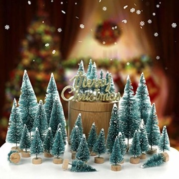 Künstlicher Weihnachtsbaum Christmas Tree Miniatur Weihnachtsdeko Klein Tisch Christmasbaum Mini Tannenbaum Weihnachts Baum Dekoration Geschenk Tischdeko, DIY Schaufenster ( Mini Weihnachtsbaum 34pcs) - 6