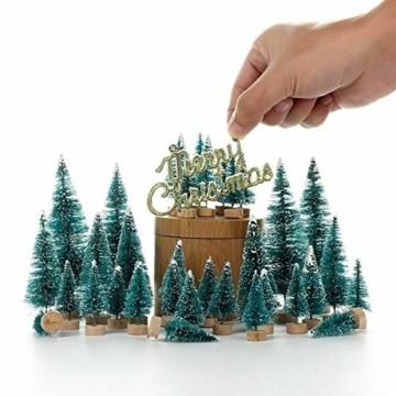 Künstlicher Weihnachtsbaum Christmas Tree Miniatur Weihnachtsdeko Klein Tisch Christmasbaum Mini Tannenbaum Weihnachts Baum Dekoration Geschenk Tischdeko, DIY Schaufenster ( Mini Weihnachtsbaum 34pcs) - 7